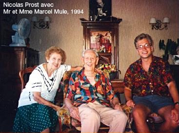 avec Mr et Mme Marcel Mule, 1994
