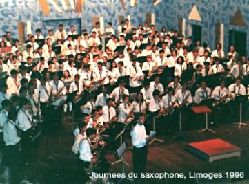 1ere journée interrégionale du saxophone Limoges 1996