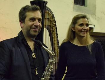 Duo saxophone et harpe (Béatrice Guillermin)